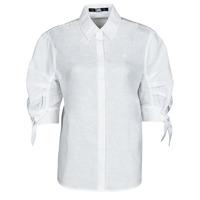 衣服 女士 衬衣/长袖衬衫 KARL LAGERFELD LINENSHIRTW/BOWS 白色