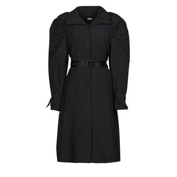 衣服 女士 风衣 KARL LAGERFELD DRAPEDTRENCHCOAT 黑色
