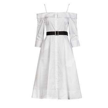 衣服 女士 长裙 KARL LAGERFELD COLDSHOULDERSHIRTDRESS 白色