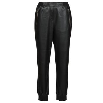 衣服 女士 多口袋裤子 KARL LAGERFELD FAUXLEATHERJOGGERS 黑色