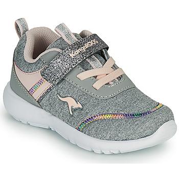鞋子 女孩 球鞋基本款 Kangaroos KY-CHUMMY EV 灰色 / 玫瑰色