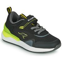 鞋子 男孩 球鞋基本款 Kangaroos KD-GYM EV 黑色 / 黄色