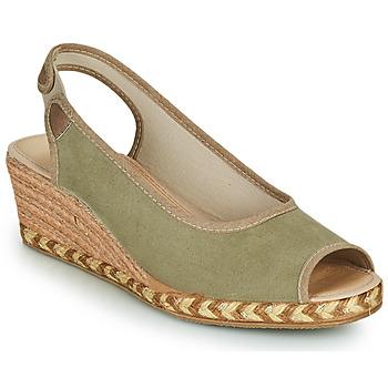 鞋子 女士 帆布便鞋 Damart 43775 卡其色