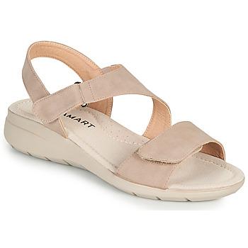 鞋子 女士 凉鞋 Damart 67808 米色 / 玫瑰色