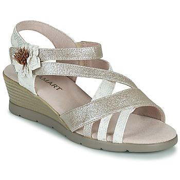 鞋子 女士 凉鞋 Damart 61170 银灰色