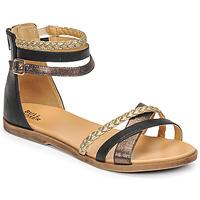 鞋子 女孩 凉鞋 Bullboxer ALM013F1S-ROSE 黑色