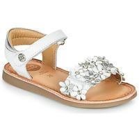 鞋子 女孩 凉鞋 Gioseppo MAZARA 白色 / 银灰色