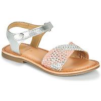 鞋子 女孩 凉鞋 Gioseppo QUINCY 银灰色 / 玫瑰色
