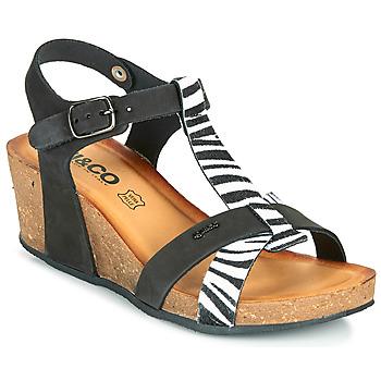 鞋子 女士 凉鞋 Primigi (adulte) JOULIA 黑色 / 白色