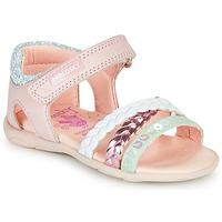 鞋子 女孩 凉鞋 Pablosky KINNO 玫瑰色