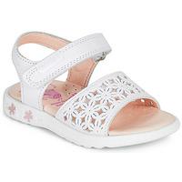鞋子 女孩 凉鞋 Pablosky DROSSI 白色 / 玫瑰色