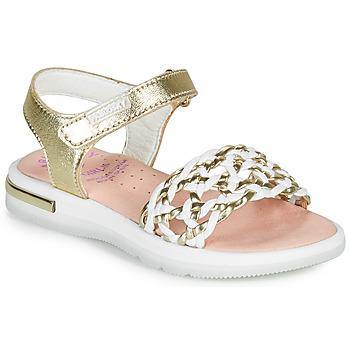 鞋子 女孩 凉鞋 Pablosky DANIE 金色 / 白色