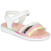 鞋子 女孩 凉鞋 Pablosky MOUNNA 白色 / 玫瑰色