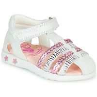 鞋子 女孩 凉鞋 Pablosky ELLA 白色 / 玫瑰色