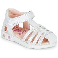 鞋子 女孩 凉鞋 Pablosky TONNI 白色 / 玫瑰色