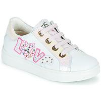 鞋子 女孩 球鞋基本款 Pablosky AMME 白色 / 玫瑰色