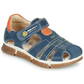 鞋子 男孩 凉鞋 Pablosky REAL 海蓝色