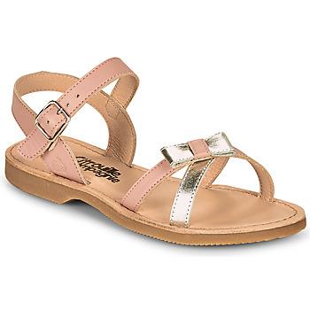 鞋子 女孩 凉鞋 Citrouille et Compagnie JISCOTTE 玫瑰色 / 银色