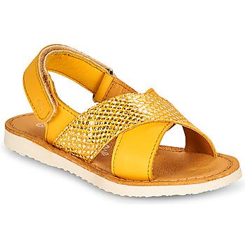 鞋子 女孩 凉鞋 Citrouille et Compagnie OVETTE 黄色
