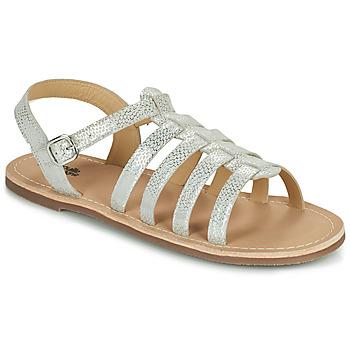 鞋子 女孩 凉鞋 Citrouille et Compagnie MAYANA 白色 / 银色