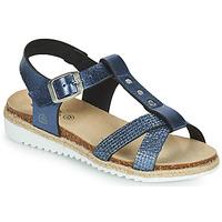 鞋子 女孩 凉鞋 Citrouille et Compagnie OMALA 蓝色