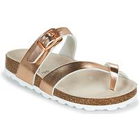 鞋子 女孩 休闲凉拖/沙滩鞋 Citrouille et Compagnie OMILA 玫瑰色 / 金色
