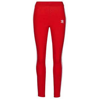 衣服 女士 紧身裤 Adidas Originals 阿迪达斯三叶草 3 STR TIGHT 红色