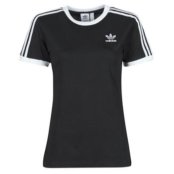 衣服 女士 短袖体恤 Adidas Originals 阿迪达斯三叶草 3 STRIPES TEE 黑色