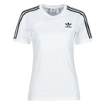 衣服 女士 短袖体恤 Adidas Originals 阿迪达斯三叶草 3 STRIPES TEE 白色