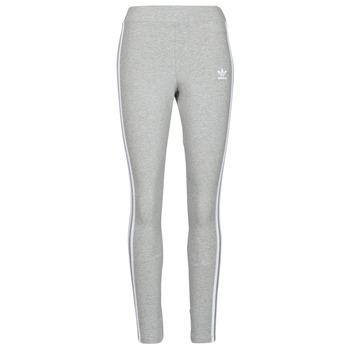 衣服 女士 紧身裤 Adidas Originals 阿迪达斯三叶草 3 STRIPES TIGHT 灰色