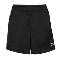 衣服 女士 短裤&百慕大短裤 Adidas Originals 阿迪达斯三叶草 SATIN SHORTS 黑色