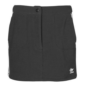 衣服 女士 半身裙 Adidas Originals 阿迪达斯三叶草 FLEECE SKIRT 黑色