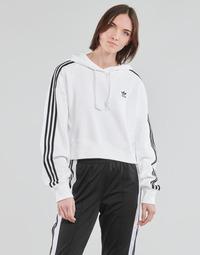 衣服 女士 卫衣 Adidas Originals 阿迪达斯三叶草 SHORT HOODIE 白色