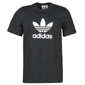 衣服 男士 短袖体恤 Adidas Originals 阿迪达斯三叶草 TREFOIL T-SHIRT 黑色