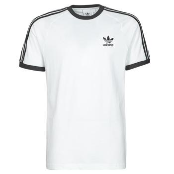 衣服 男士 短袖体恤 Adidas Originals 阿迪达斯三叶草 3-STRIPES TEE 白色