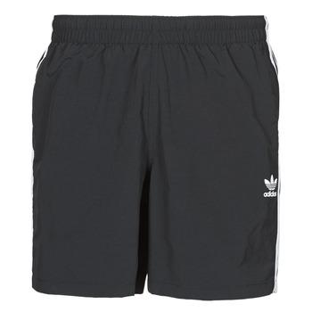 衣服 男士 男士泳裤 Adidas Originals 阿迪达斯三叶草 3-STRIPE SWIMS 黑色