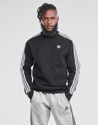 衣服 男士 卫衣 Adidas Originals 阿迪达斯三叶草 3-STRIPES CREW 黑色