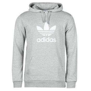 衣服 男士 卫衣 Adidas Originals 阿迪达斯三叶草 TREFOIL HOODIE 灰色