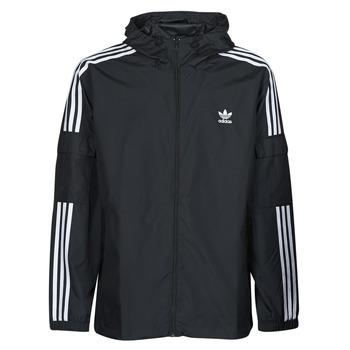 衣服 男士 冲锋衣 Adidas Originals 阿迪达斯三叶草 3-STRIPES WB FZ 黑色