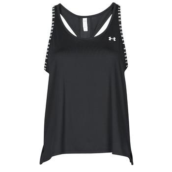 衣服 女士 无领短袖套衫/无袖T恤 Under Armour 安德玛 UA KNOCKOUT TANK 黑色