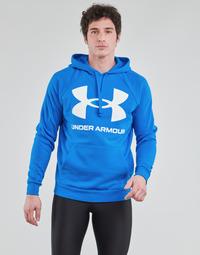 衣服 男士 卫衣 Under Armour 安德玛 UA RIVAL FLEECE BIG LOGO HD 蓝色