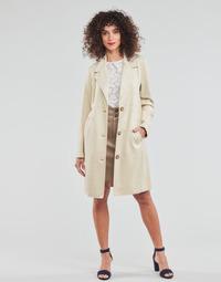 衣服 女士 大衣 Esprit 埃斯普利 SUEDE COAT 米色