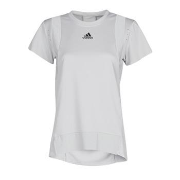 衣服 女士 短袖体恤 adidas Performance 阿迪达斯运动训练 TRNG TEE H.RDY 灰色
