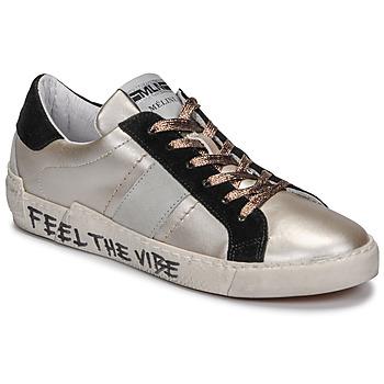 鞋子 女士 球鞋基本款 Meline  古銅色 / 黑色