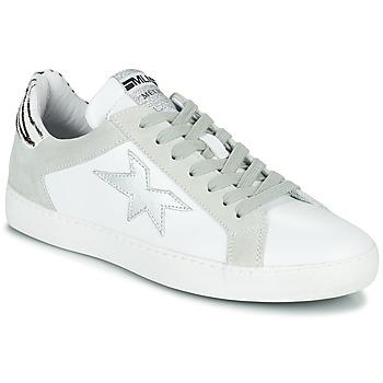 鞋子 女士 球鞋基本款 Meline  白色 / 银色 / 斑马纹