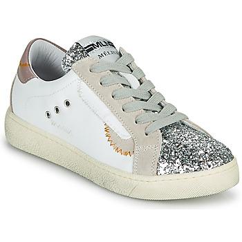 鞋子 女士 球鞋基本款 Meline CAR139 白色 / 金色