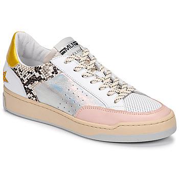 鞋子 女士 球鞋基本款 Meline  白色 / 玫瑰色