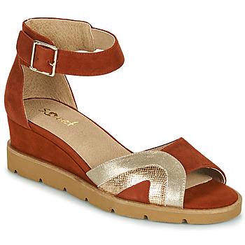 鞋子 女士 凉鞋 Sweet ETUVESS 波尔多红 / 金色