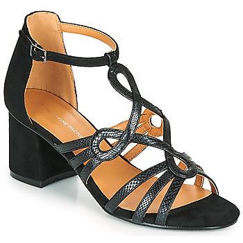 鞋子 女士 凉鞋 The Divine Factory QL4327 黑色