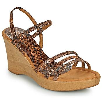 鞋子 女士 凉鞋 Unisa RENERA 棕色 / Python